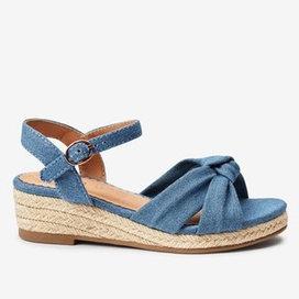 Next wedge denim sandals