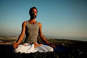 Meditação da ioga do homem