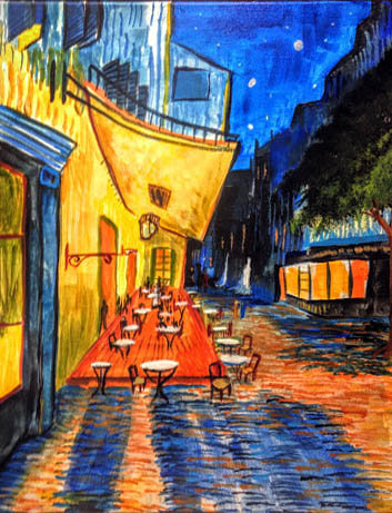 """Homage to Van Gogh: """"Cafe Terrace at Night"""""""