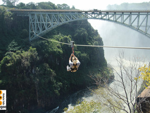 Zip Lining the Zambezi