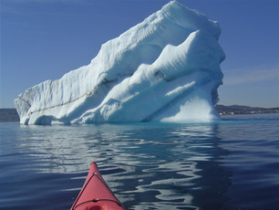 Kayaking with Ancient Ice, Newfoundland, Canada