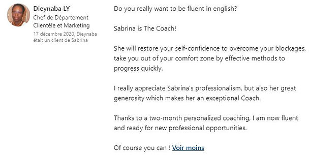 avis clients successful in english coach