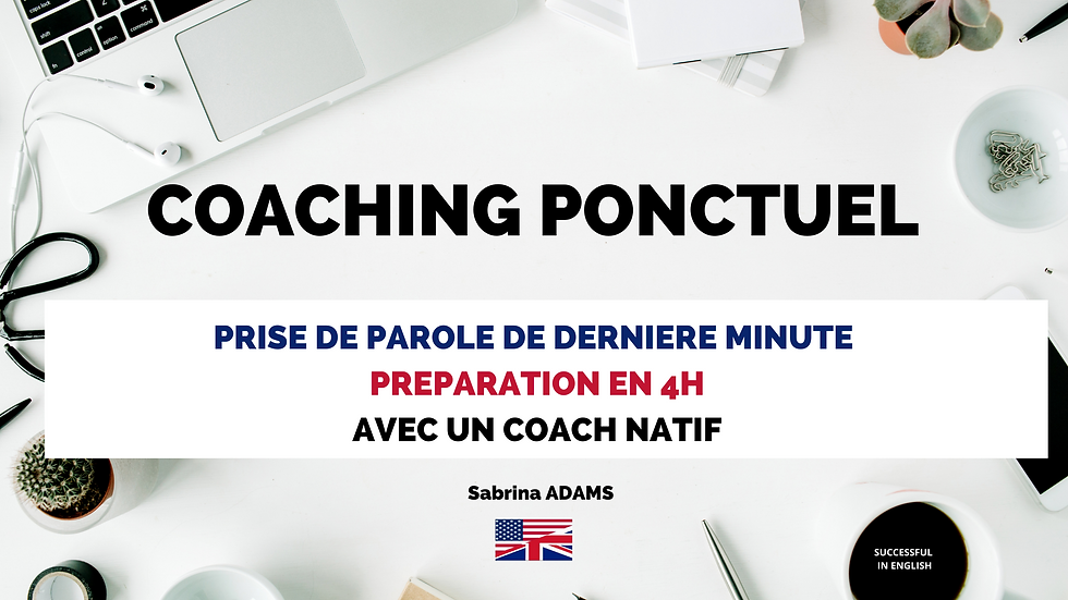 COACHING PONCTUEL SUCCESSFUL IN ENGLISH.