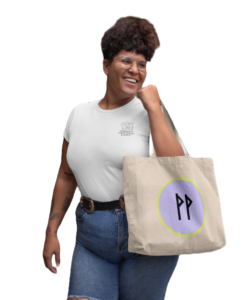 plus-size-t-shirt-mockup-of-a-woman-with-tattoos-holding-a-tote-bag-on-the-street-30890_ed