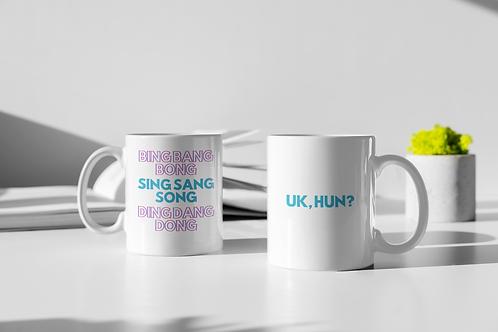 Bing Bang Bong, UK Hun? White glossy mug