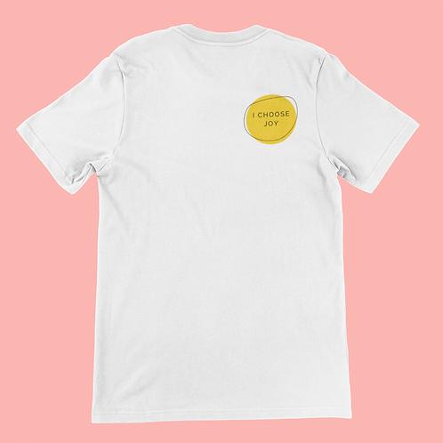 Affirmation Short-Sleeve Unisex T-Shirt, I Choose Joy