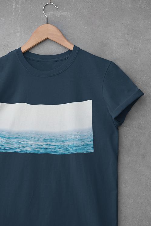 Inhale Exhale Sea View Unisex T-Shirt