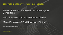 "Global Cyber Consultants President Steven Schwartz to Discuss ""Startups and Security"" amon"