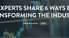 Finance Experts Share 6 Ways Big Data is Transforming the Industry - Hosted by Bitly