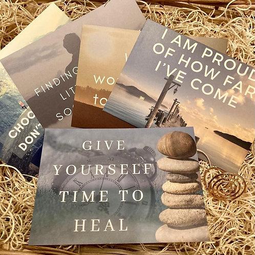 Inspirational Postcards & Stand