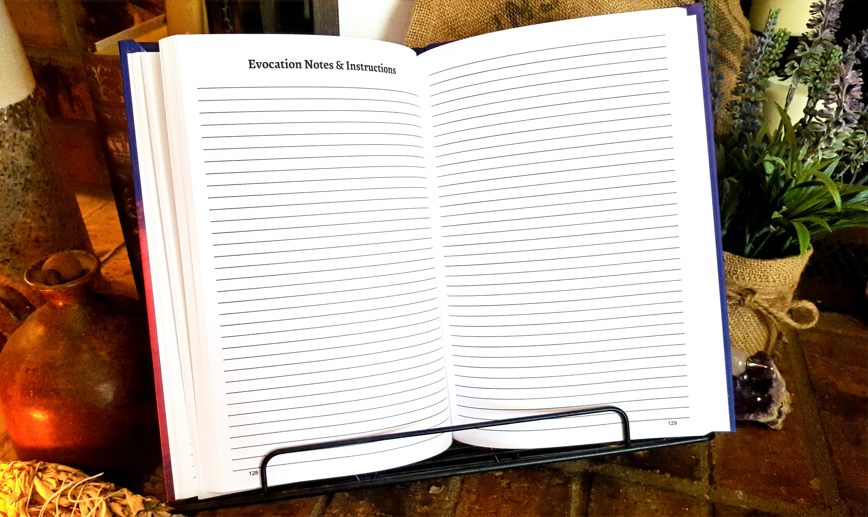 Each section is separated with additional note pages