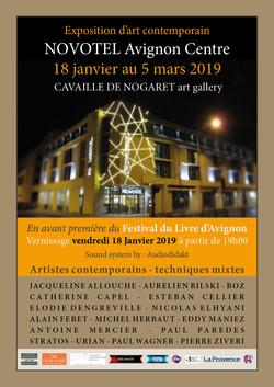 affiche Novotel Livre Expo