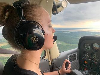 Tess in cockpit 3.JPG