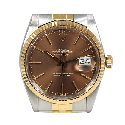 Rolex Datejust '16013' Two Tone Black Dial Box and Papers
