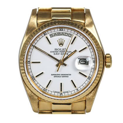 Rolex Day-Date 18038 Rare White 'Stella Dial'