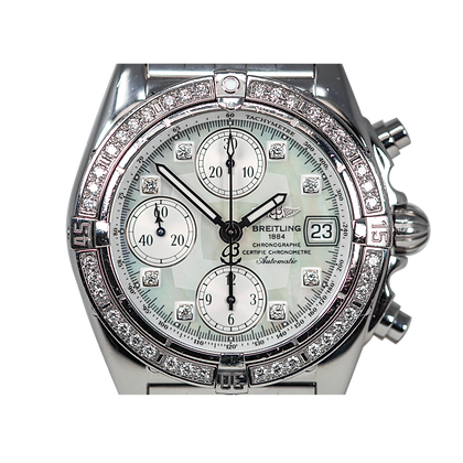 Breitling Chrono Cockpit Diamond Mother Of Pearl Dial
