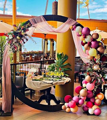 Wedding Arch Maui 5 palms Kolonahe Creat