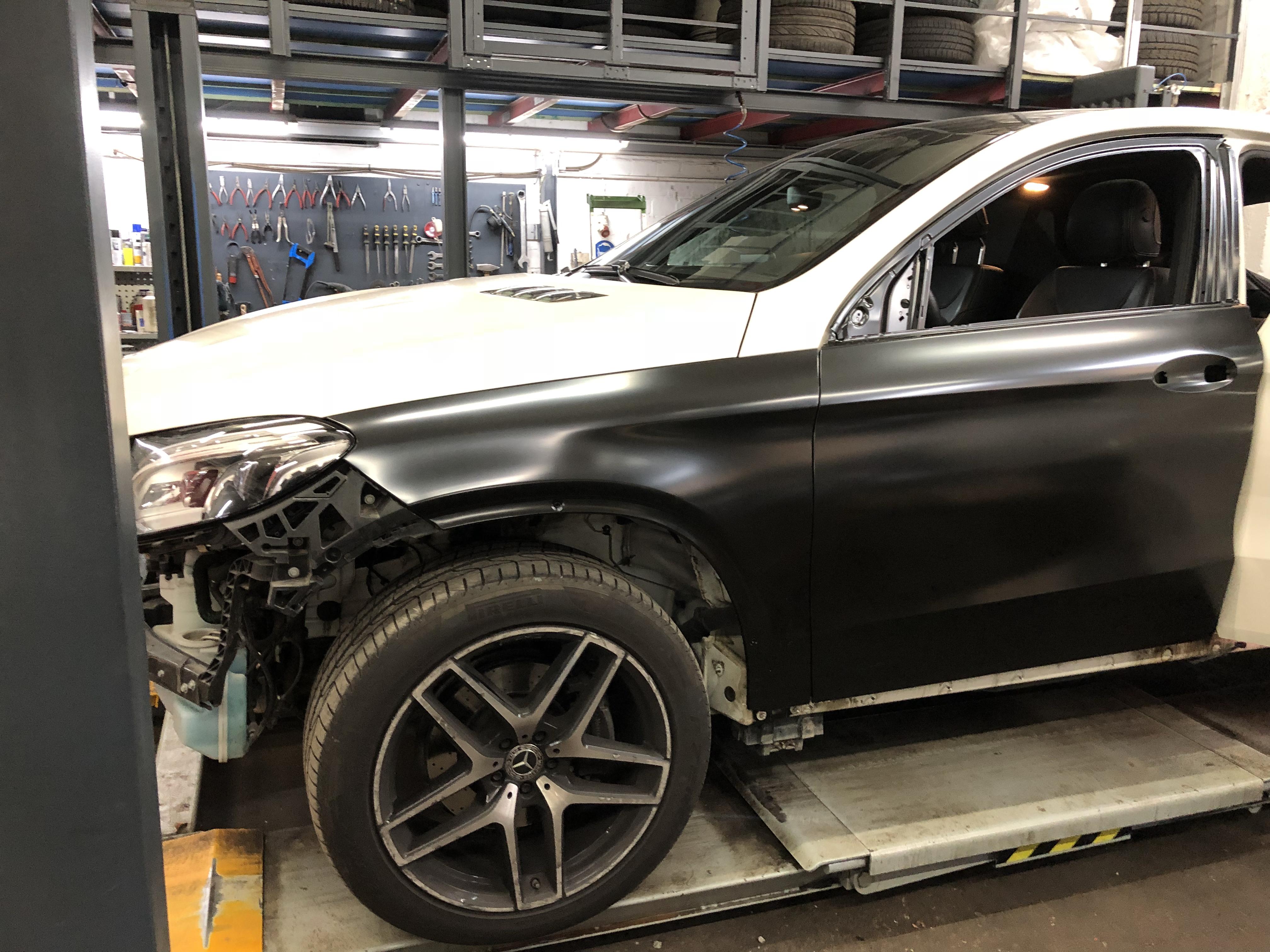 Unfall Mercedes GLE 350d Coupé