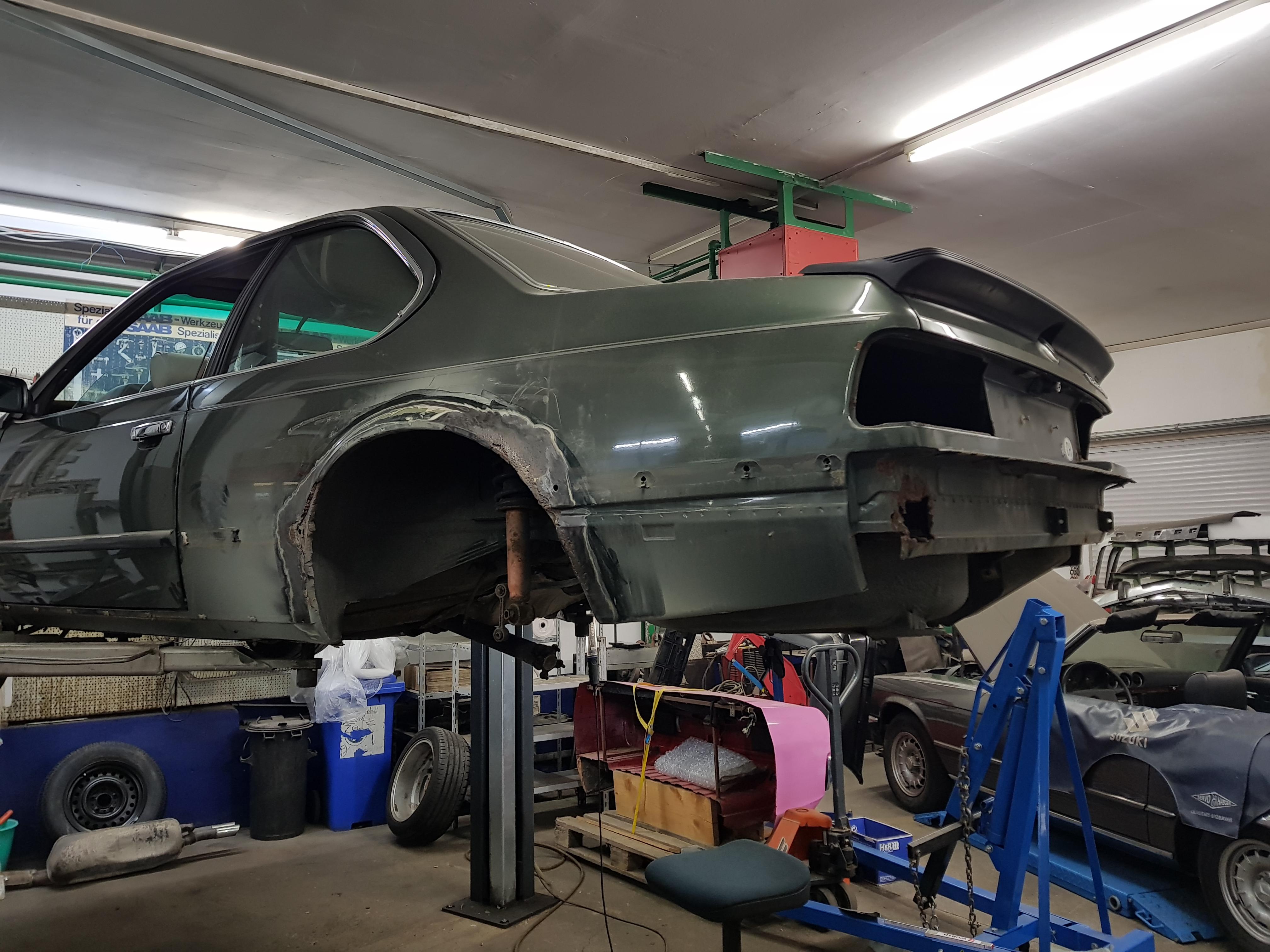 BMW E24 Karosserieinstandsetzung