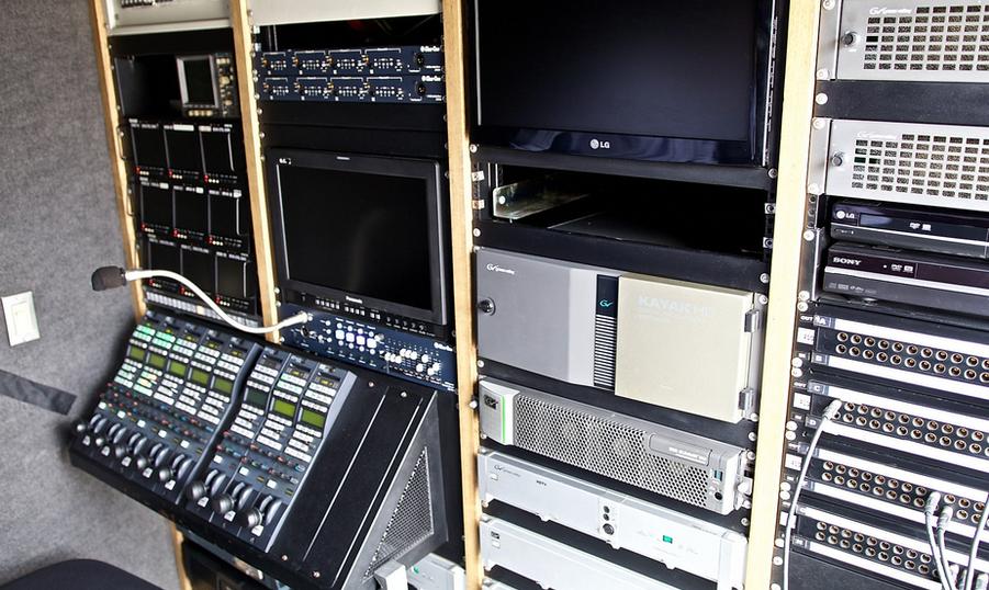 interior unidad movil sportsat televisio