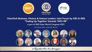"""CBC & ISES invite to the first ever """"CleanTech Business, Finance & Science Leaders Joint Forum"""""""