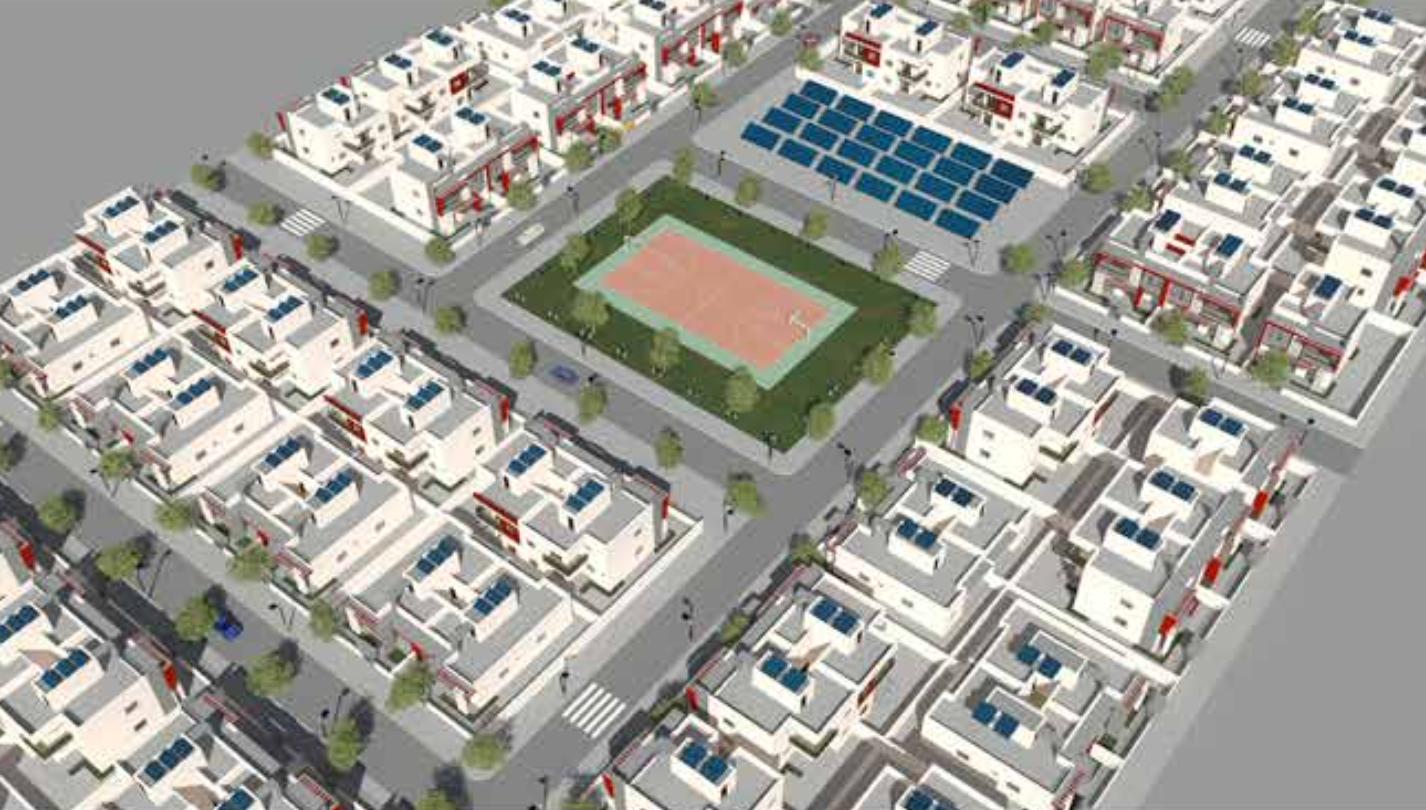 Solar City Aerial View