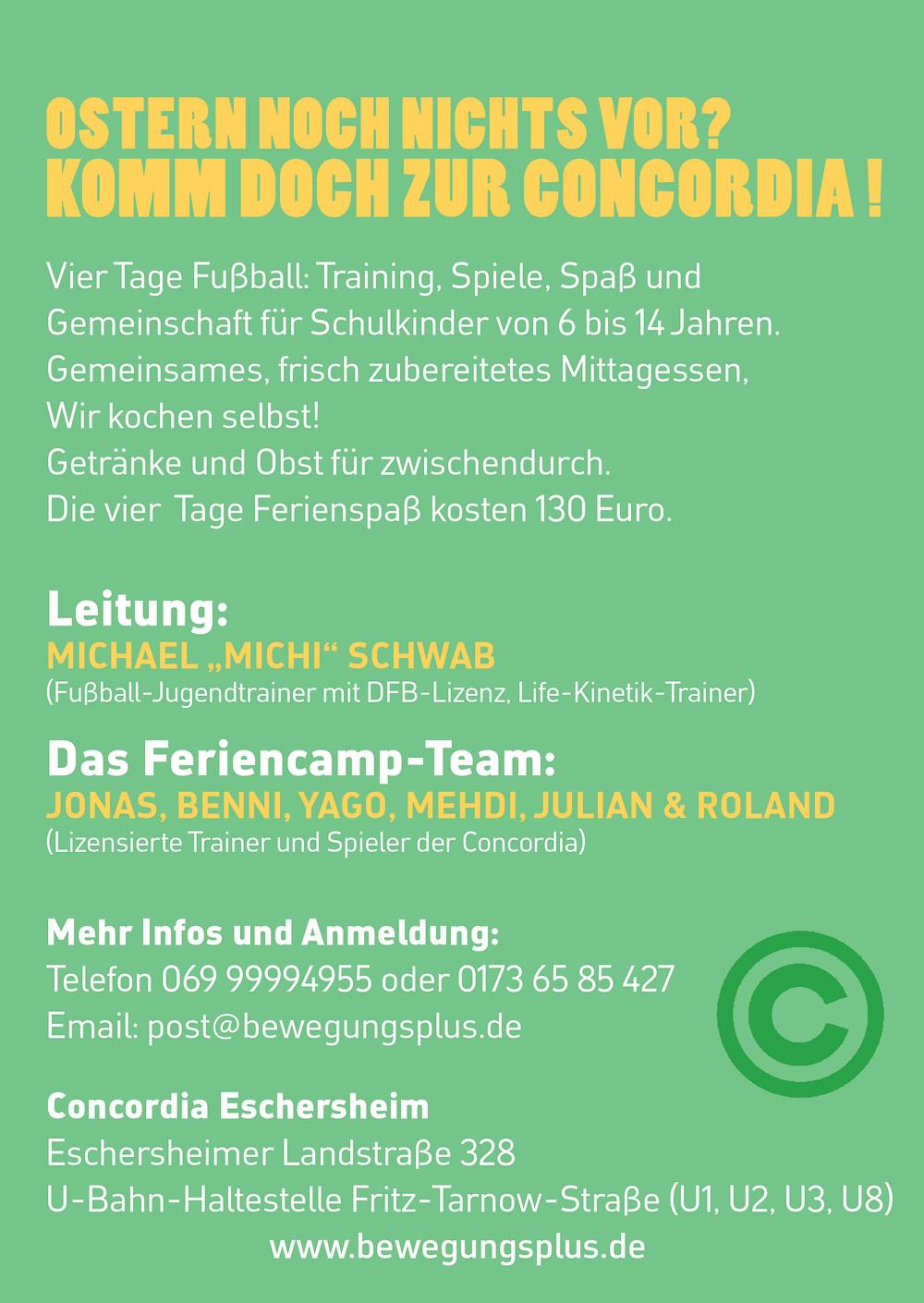 Concordia Osterferiencamp Flyer