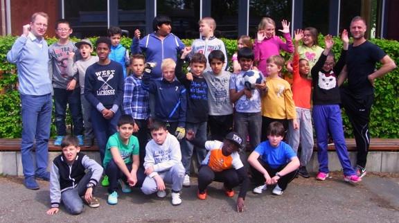 Fußball trifft Kultur bei der LitCam Truppe der Albert-Schweizer-Schule