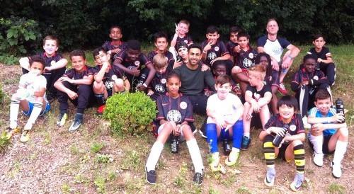 Die Spieler der Albert-Schweitzer-Schule beim Fußball trifft Kultur Abschlussturnier