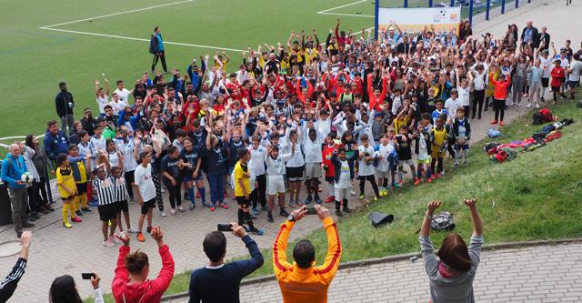 Gruppenbild Fußball trifft Kultur Abschlussturnier in Dortmund