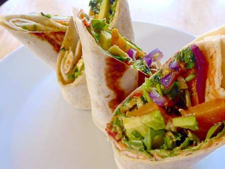 Lunchtime vegetable wrap