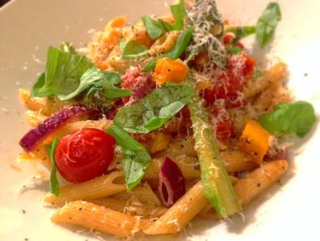 Rainbow vegetable pasta!