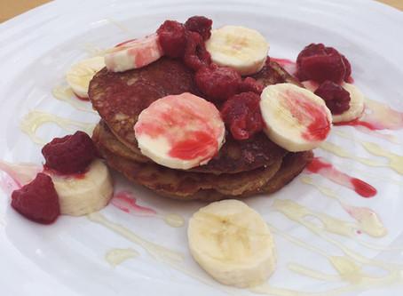 Healthy Oat and Banana Pancakes