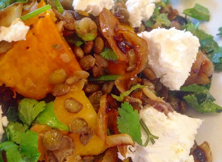 Butternut Squash, Lentil and Goats cheese salad #7recipes7days