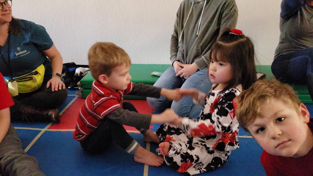 adaptive kids yoga class