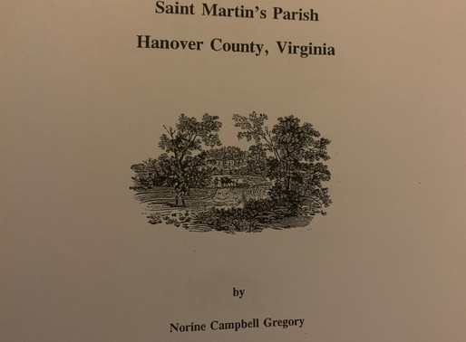 Resource Review: Some Ancient Landowners in Saint Martin's parish Hanover County Virginia