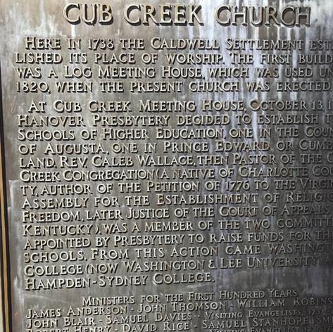 Site of the Ruins of Cub Creek Presbyterian Church
