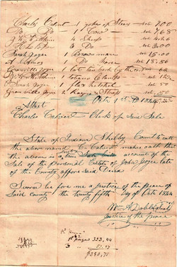 Joyce John Sr (-1844) Sale Bill 4, Contributed Joyce Wells Lawrence