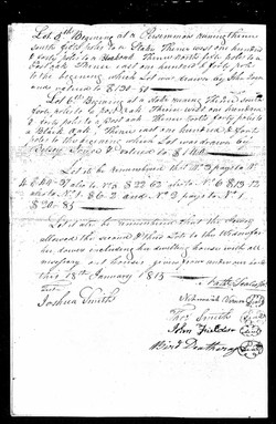 John (coon) Joyce (1750-1814) Estate Record, Part 3, Contributed by David Joyce