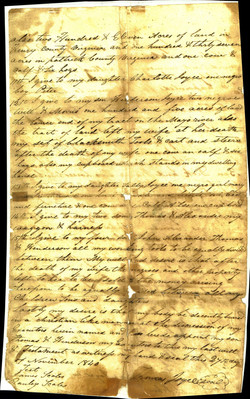 Thomas Joyce (1771-1842) Will, Part 2, Dated November 27, 1840. Contributed by David Joyce