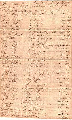 Joyce John Sr (-1844) Sale Bill 2, Contributed Joyce Wells Lawrence