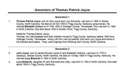 Thoma Patrick Joyce (1806-1855), Contributed by Joyce Garrott