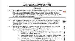 Alexander Joyce (1750-1819), Contributed by Joyce Wells Lawrence