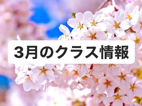 3月のクラス情報