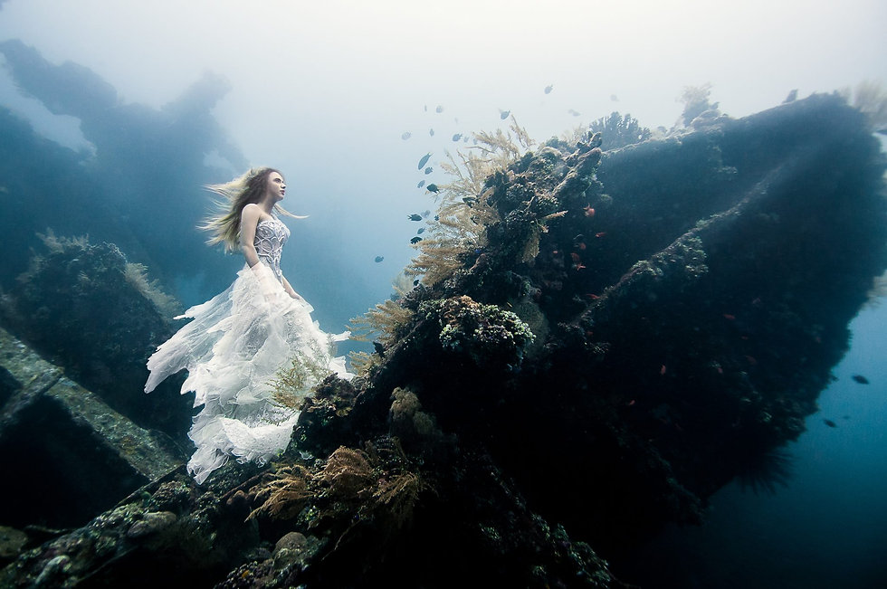 Camilla Argent Underwater Stunt Double Model