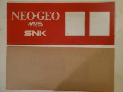 Neo Geo mini two slot arcade video game marquee