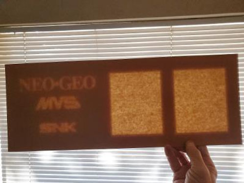 2 slot Neo-Geo arcade video game marquee