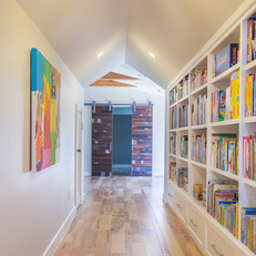 Hallway Storage and Barndoors