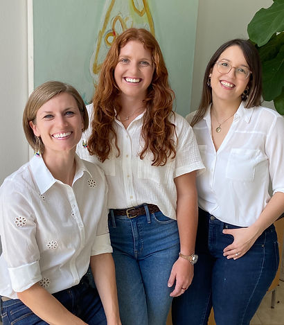 By Design Interiors Austin design team, Erika, Isabel and Lindsey, working in travis and Williamson
