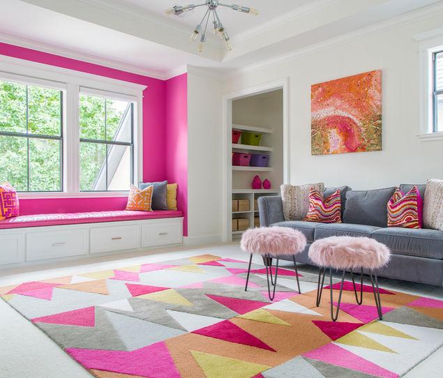 Colorful Media Room